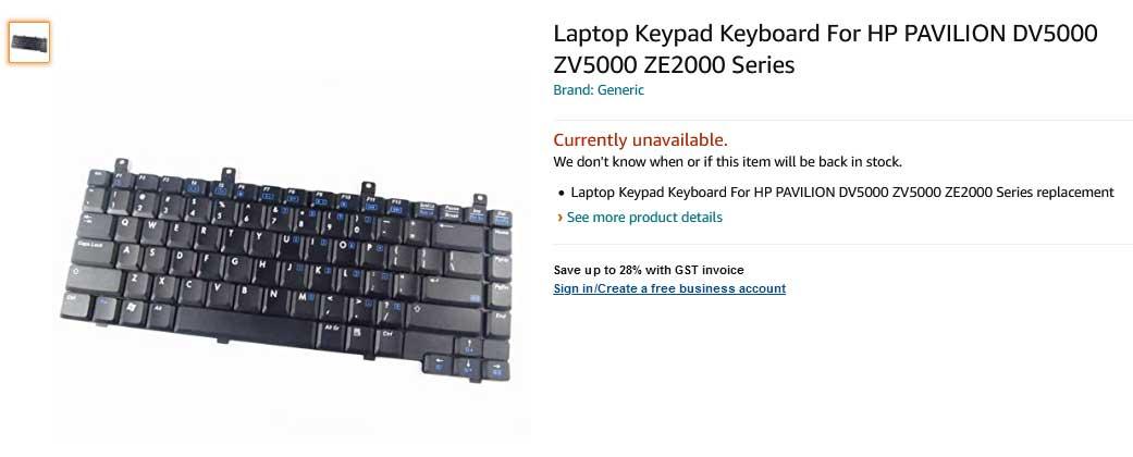 کیبورد لپ تاپ اچ پی Keyboard Hp DV5000 NX9105