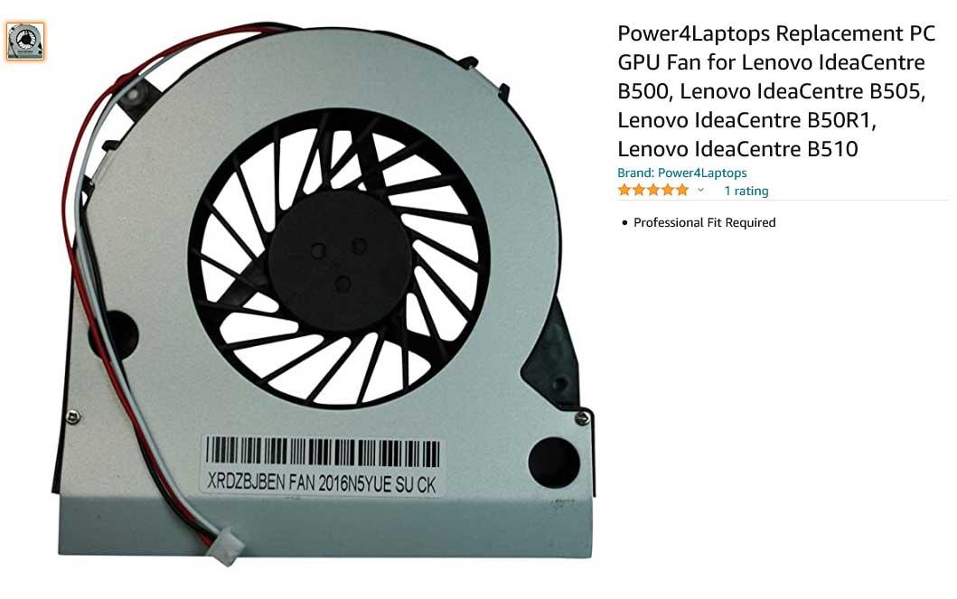 فن لپ تاپ لنوو IdeaCentre B500 B505 B50R1 GPU B510