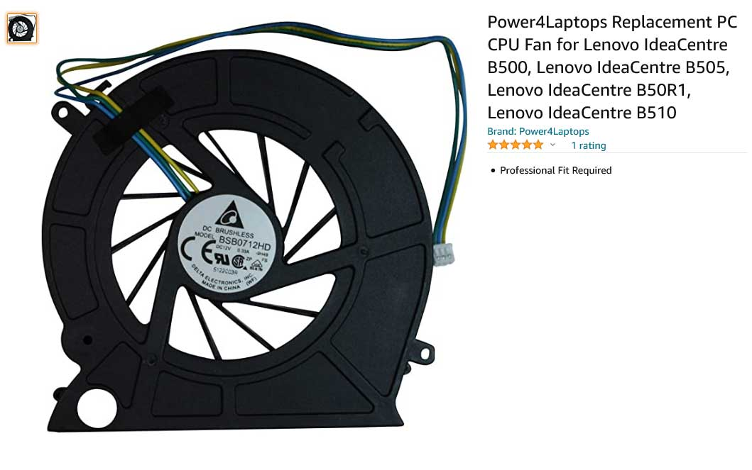 فن لپ تاپ لنوو IdeaCentre B500 B505 B510 CPU B50R1 B5R