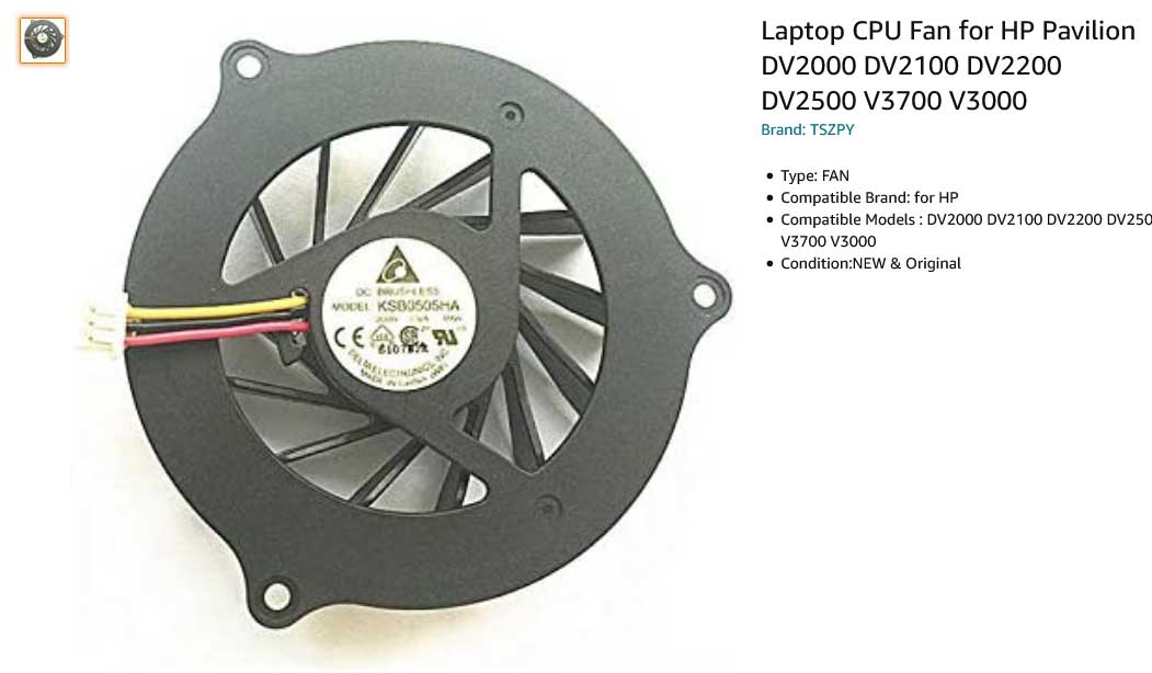 فن لپ تاپ اچ پی HP DV2000 DV2200 DV2300 DV2400