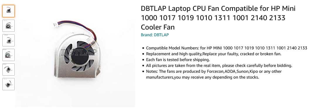 فن لپ تاپ اچ پی Mini 1000 1017 1019 1010 1001