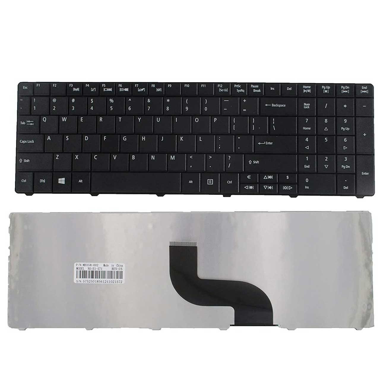 کیبورد لپ تاپ ایسر Keyboard Laptop Acer E1-531