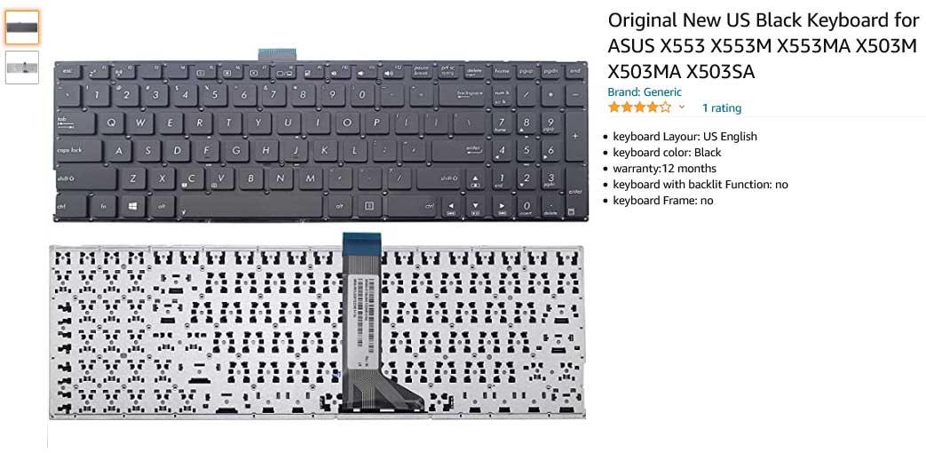 کیبورد لپ تاپ ایسوس X553 X553M X553MA X503M