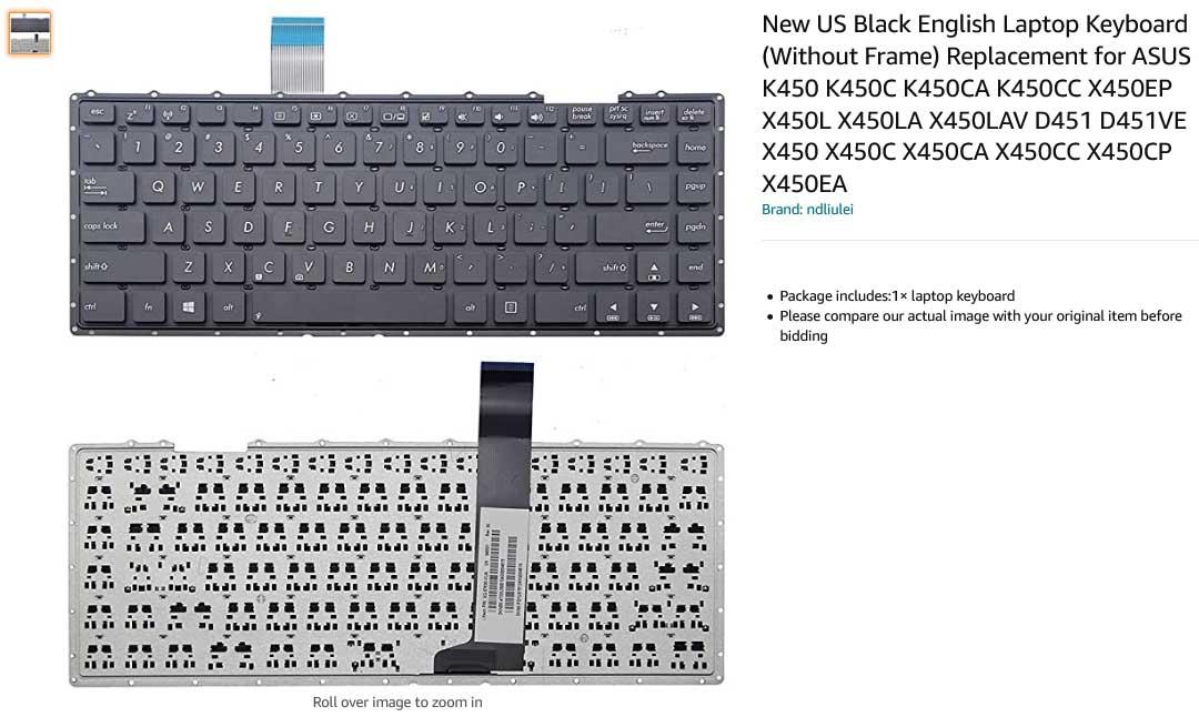 کیبورد لپ تاپ ایسوس ASUS X450 K450 K450C D451