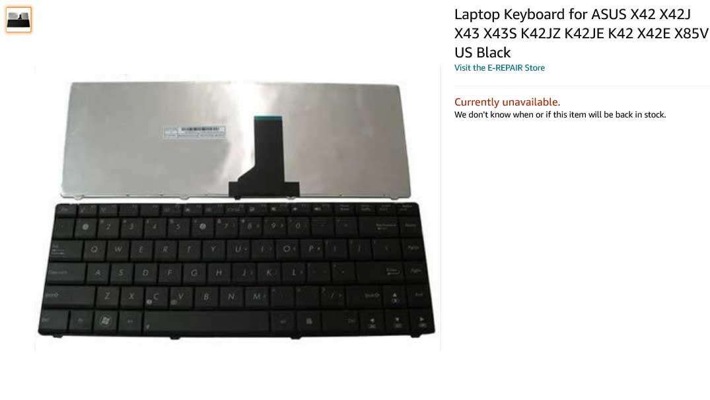 کیبورد لپ تاپ ایسوس Keyboard K42 K43 X42 X4
