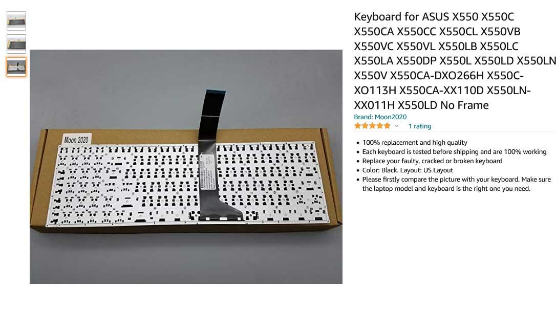کیبورد لپ تاپ ایسوس X550 K550 X550VC X550VL