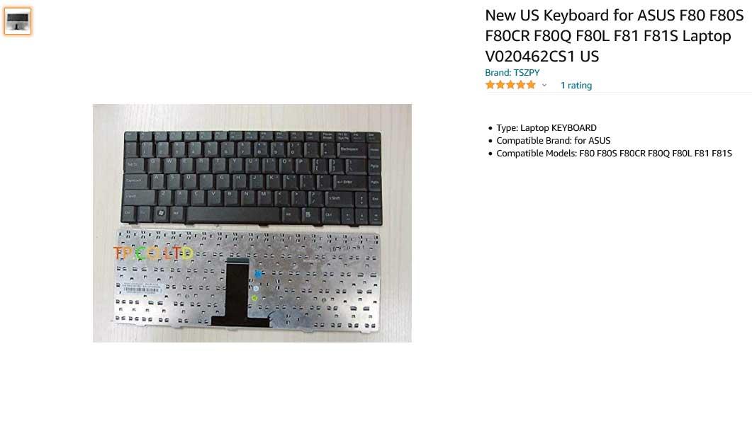 کیبورد لپ تاپ ایسوس Keyboard ASUS F80 F81 F82