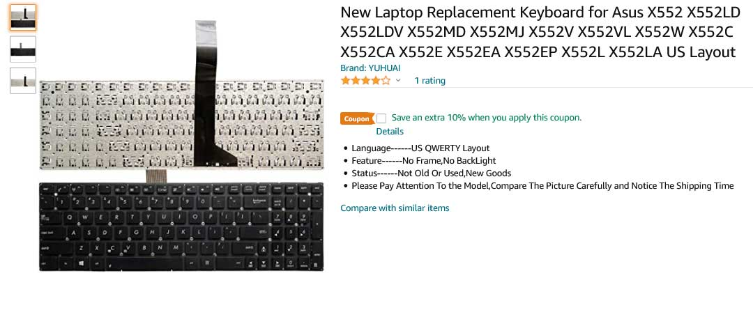 کیبورد لپ تاپ ایسوس X552 X552V X552VL X552W