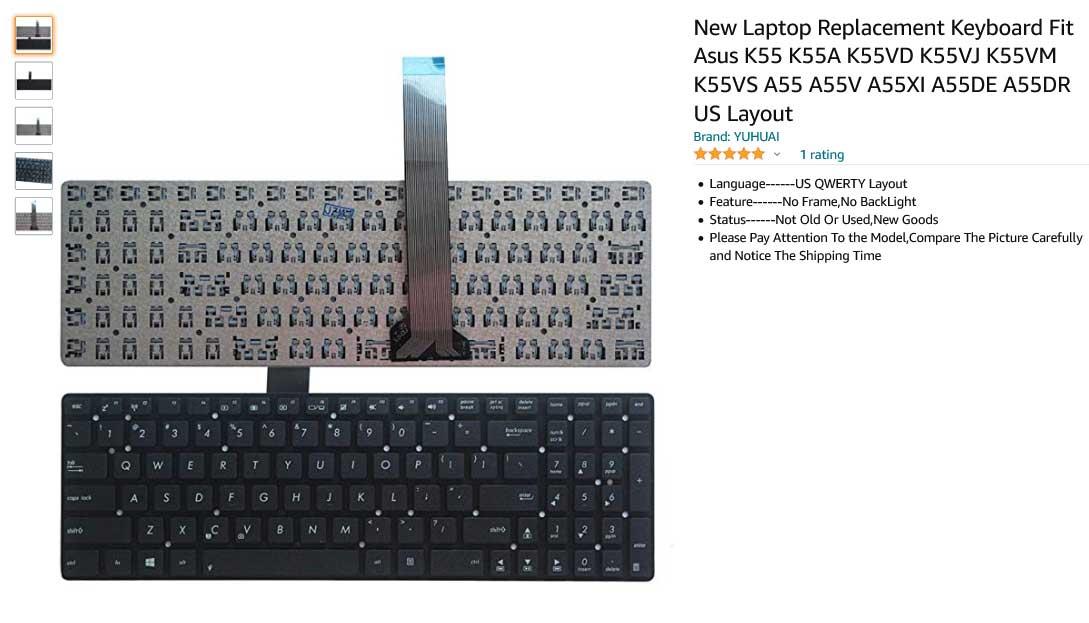 کیبورد لپ تاپ ایسوس K55VD K55 K55A K55VJ A55