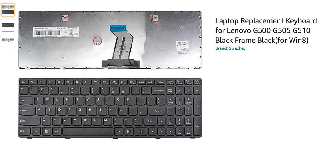 کیبورد لپ تاپ لنوو G500 G505 G510 G700 G710