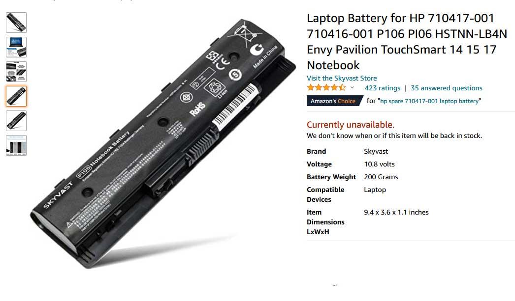 باتری لپ تاپ اچ پی Pavilion 14E 25E PI06
