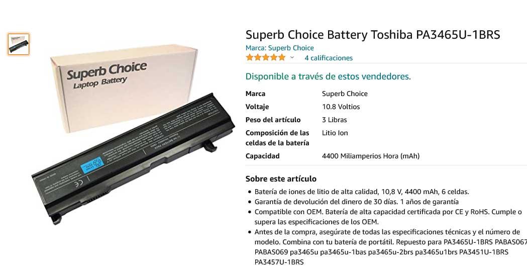 باتری لپ تاپ توشیبا PA3465U Equium M50 M70