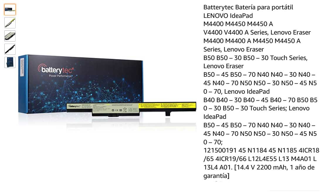 باتری لپ تاپ لنوو lenovo B50-70 L13S4A01 45N1184