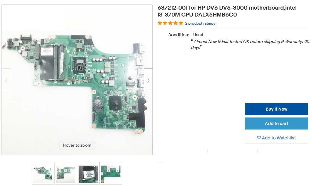 مادربرد لپ تاپ اچ پی MainBoard HP DV6-3000 DALX6HMB6C0 REV C