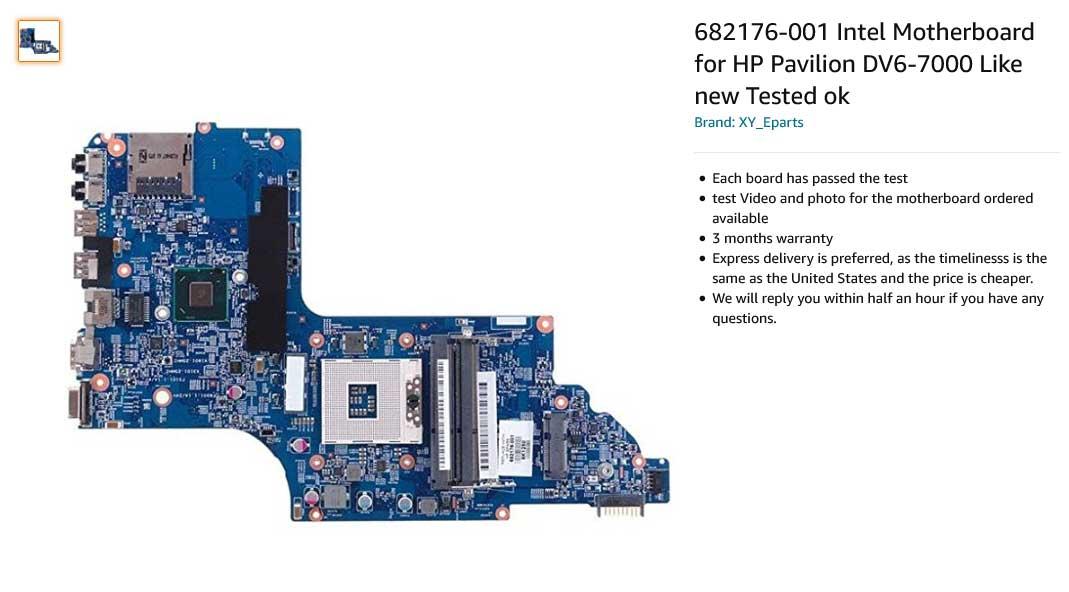 مادربرد لپ تاپ اچ پی DV6 DV6-7000 DV6T-7000 DV6T DV6-7020US