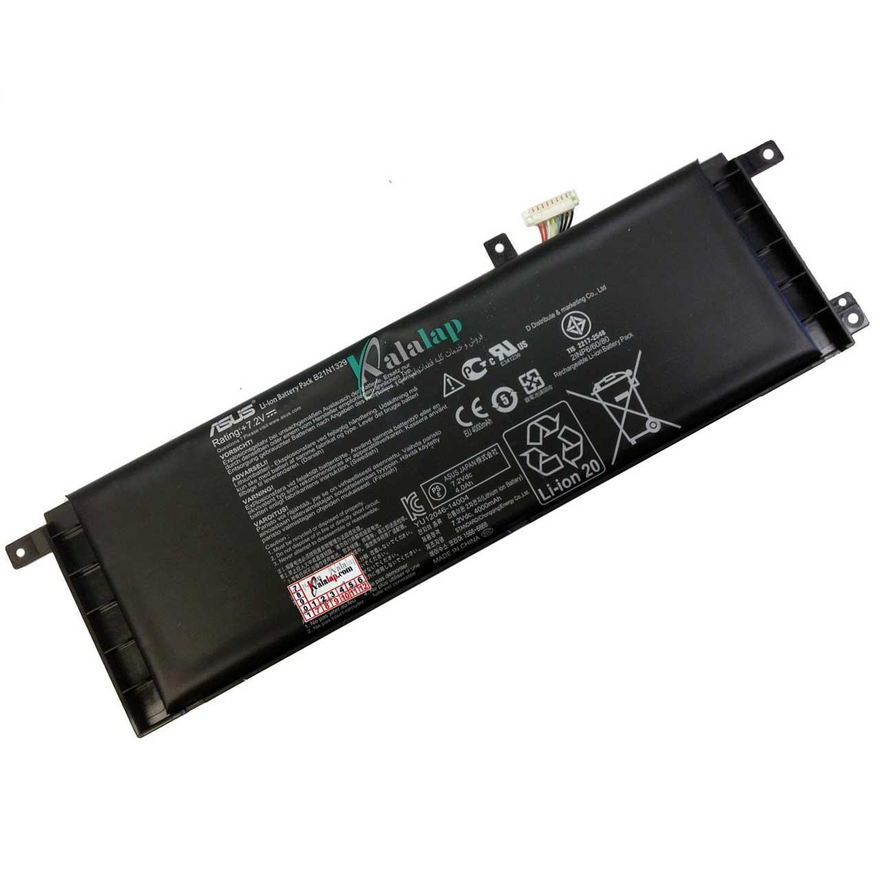 باتری لپ تاپ ایسوس X553 D553 X453 B21N1329
