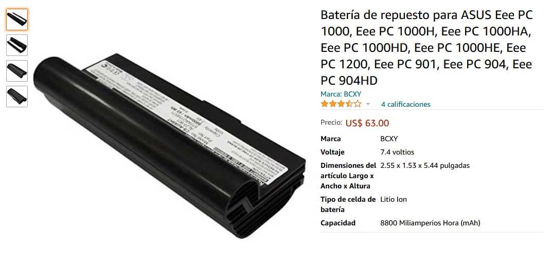 باتری لپ تاپ ایسوس Eee Pc 1000 1200 900 901