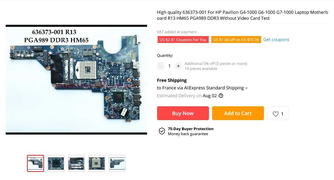 مادربرد لپ تاپ اچ پی Pavilion G4-1000 G6-1000 G7-1000