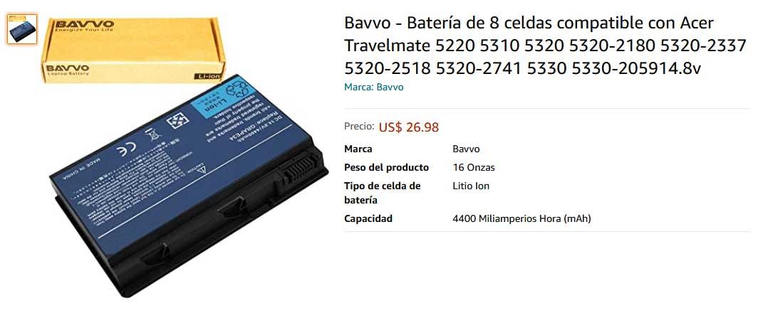 باتری لپ تاپ ایسر Extensa 5220 5630 5610