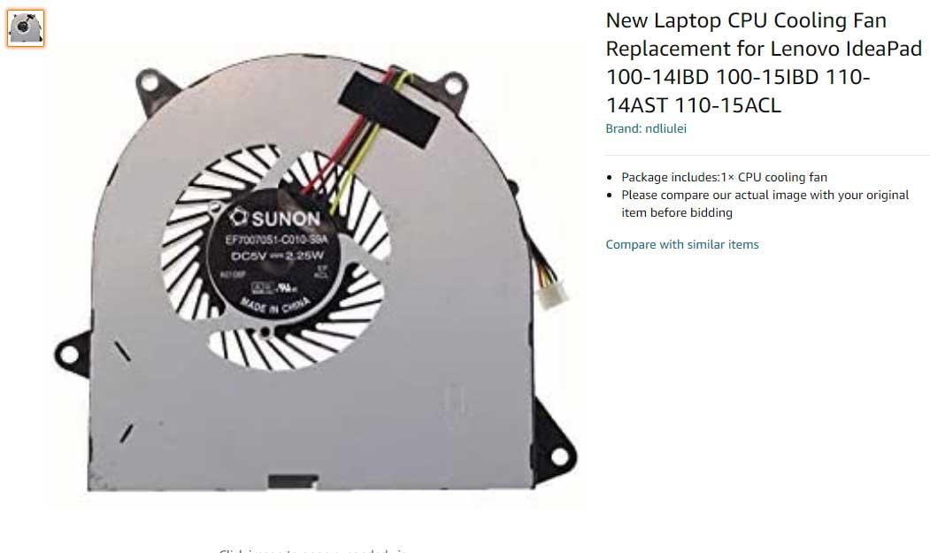 فن لپ تاپ لنوو Lenovo IdeaPad 100 110 DFS481305MC0T