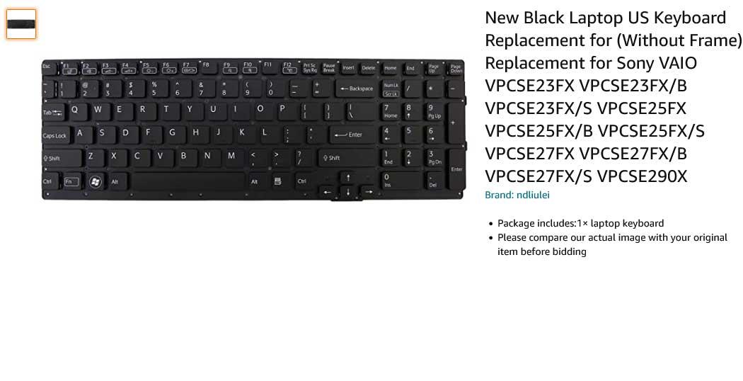کیبورد لپ تاپ سونی Keyboard SONY Vaio VPC-F2 Series