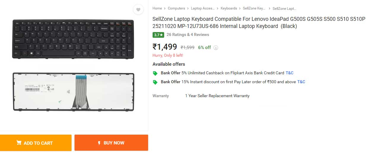 کیبورد لپ تاپ لنوو S510 G505S S500 S510P MP-12U73US-686